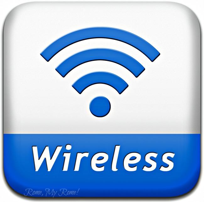 Wifi arrangements at Fiumicino airport.