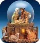Nativity snow globes