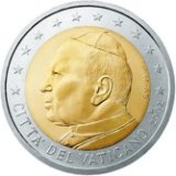 Vatican Euro currency, Pope John Paul the second