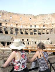 Colosseum in Rome summer