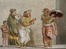 Musicians play at an Ancient roman wedding
