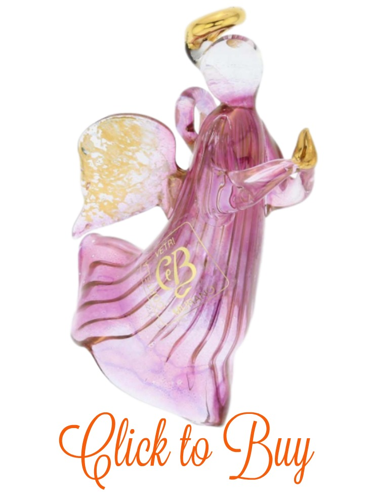 Glass angel ornament.