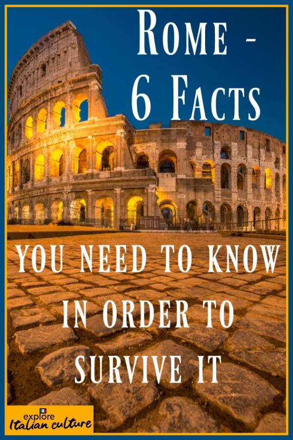 6 facts about Rome - Pin for later! #rome #romeitaly #factsaboutrome