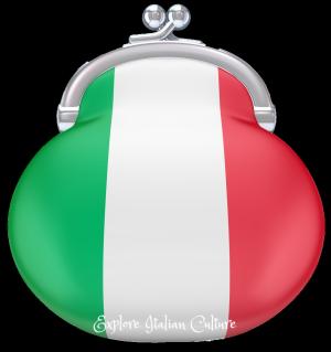 Italian flag coloured purse.