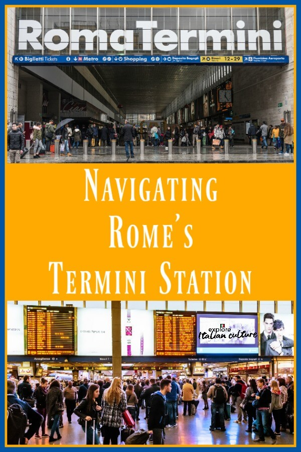 Navigating Rome's Termini station - Pin for later.