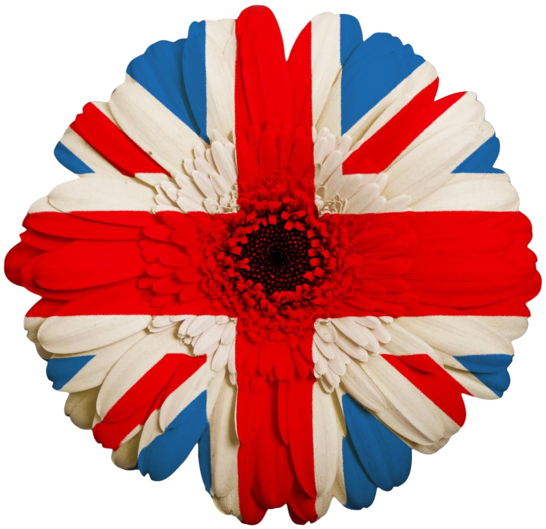 UK flower flag