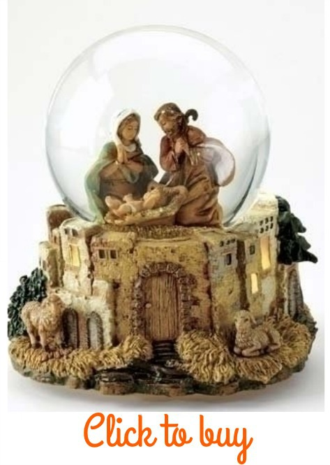 Christmas nativity snow globe.