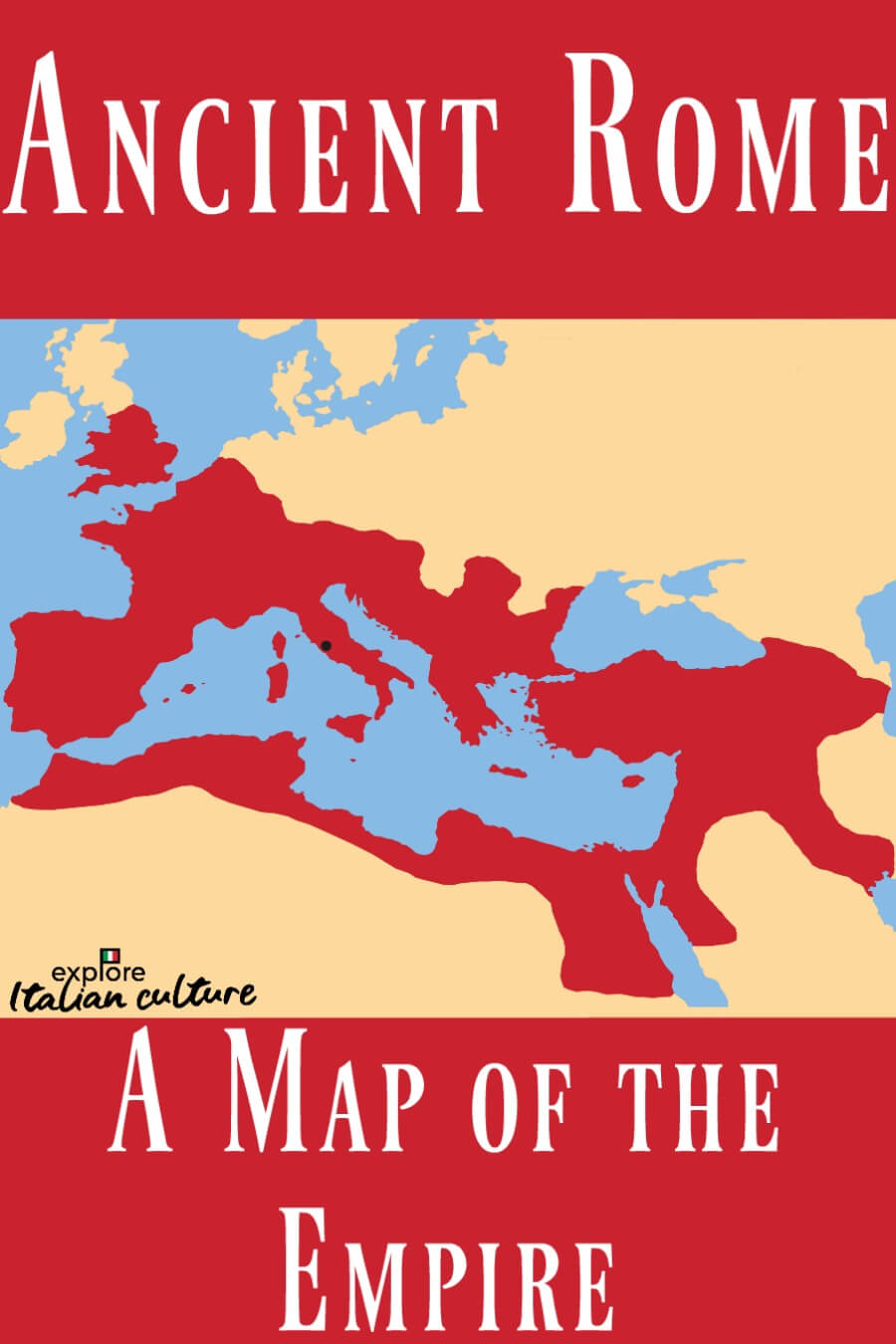 A map of Ancient Rome: Pin for later.