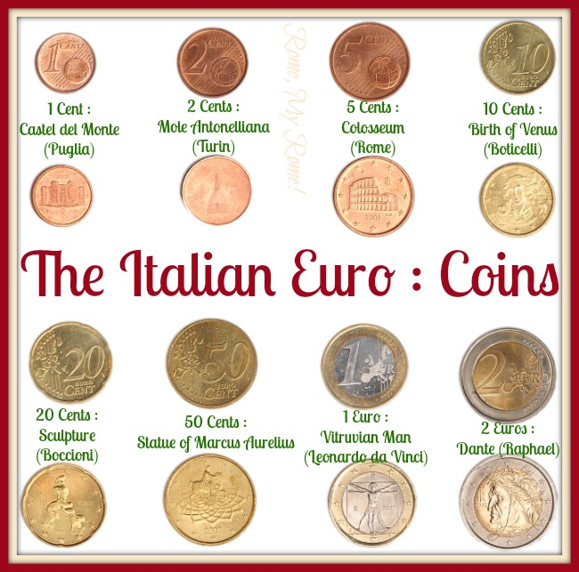 Italian Euro coins.