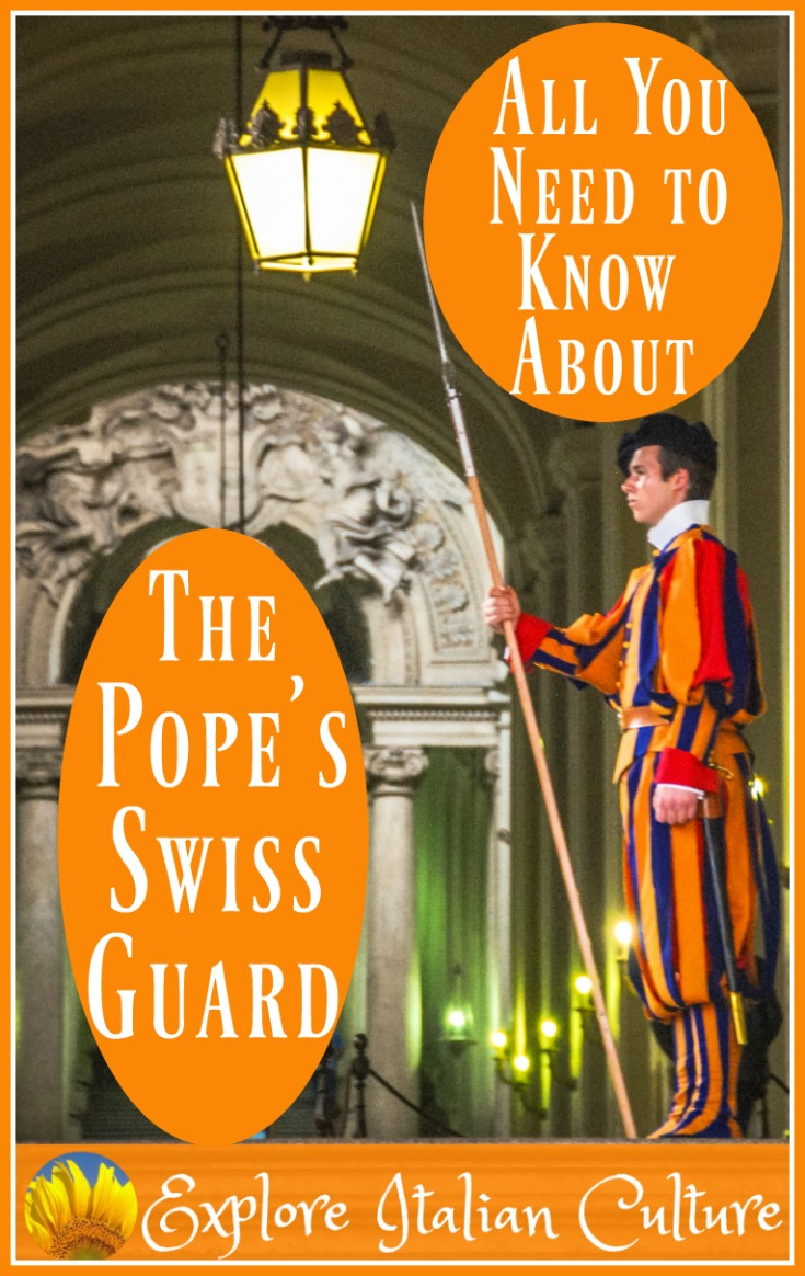 The Swiss Guard: their focus is the protection of the Pope and the Papal residences. They may look bizarre, but they're a crack team of highly trained soldiers of the Swiss Army. Find out more, here.