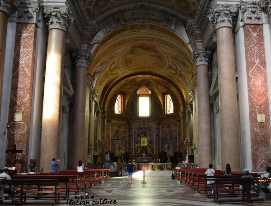 The beautiful church of Santa Maria degli Angeli e dei Martiri - a cool refuge in the heat of Rome's summer.
