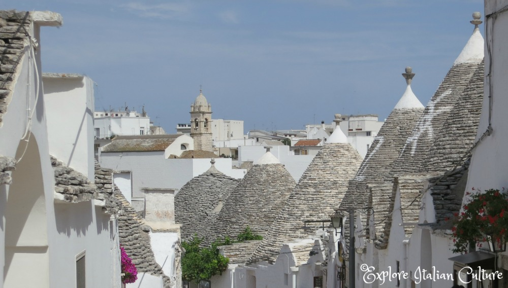 Alberobello, the town of the trulli, the traditional dwellings of Puglia, Italy.