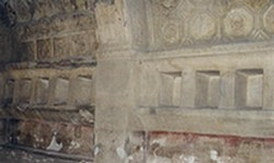 Ancient Roman bath houses dressing room