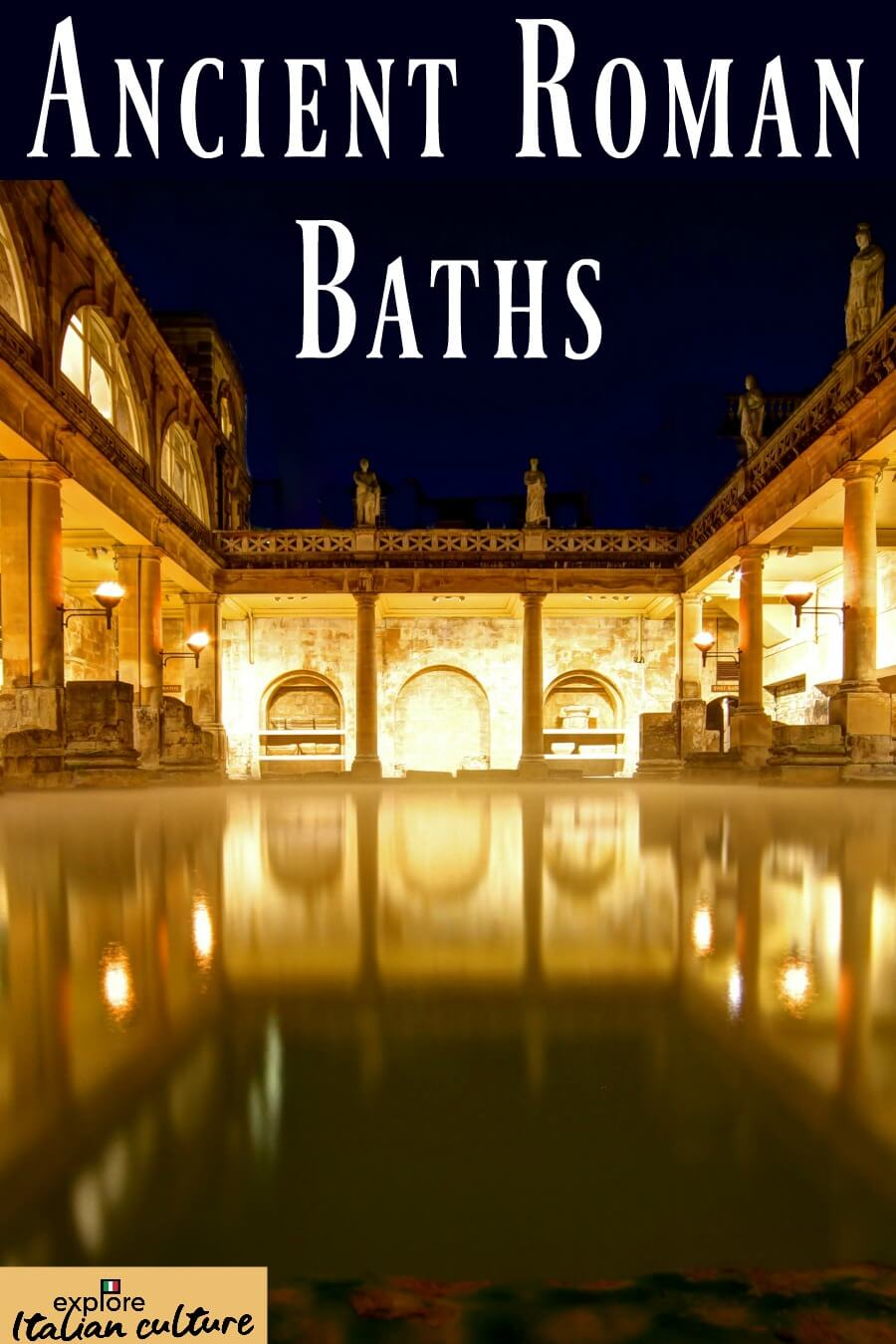 Ancient Roman baths: pin for later.