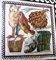 Ancient Roman foods mosaic