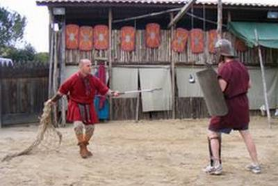 The main Arena of the gladiator school in Rome