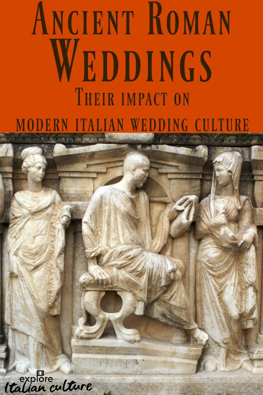 Ancient Roman weddings and their impact on modern Italian wedding traditions. Pin for later.