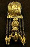 gold pendant earring, 2C A.D.