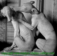 Statue of sighthounds