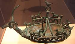 Bronze animal lamp
