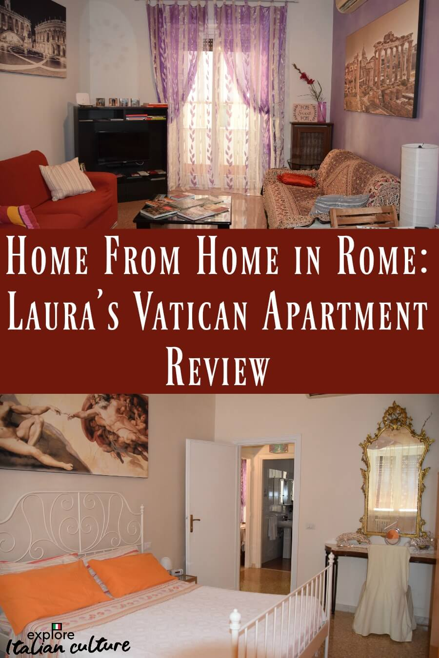 Pin: review of Laura's apartment, Rome.