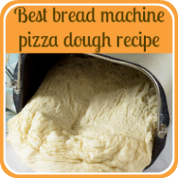 Bread machine pizza dough recipe - link.
