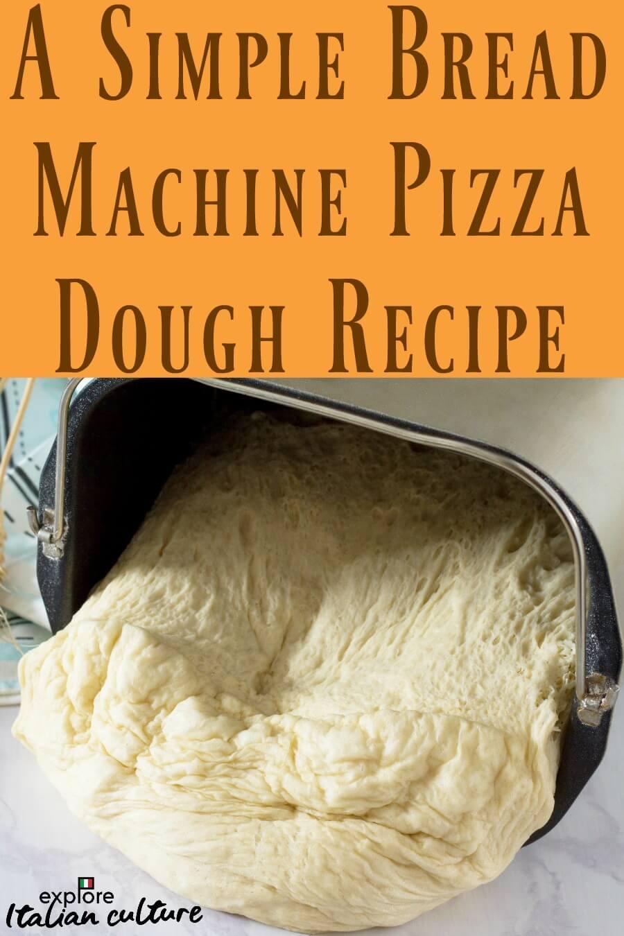 Pin for later: simple bread machine pizza dough recipe.