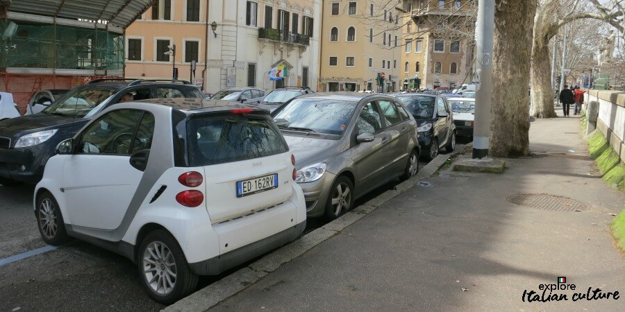 Car parking in Rome.