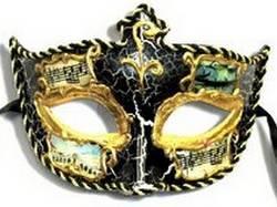 Italian Carnevale masks black