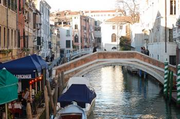 Carnevale Venice back canals