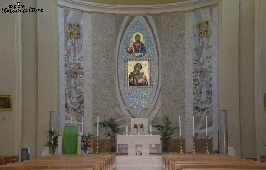 The altar of Santa Maria delle Grazie, Rome.