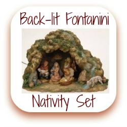 Backlit nativity set click here