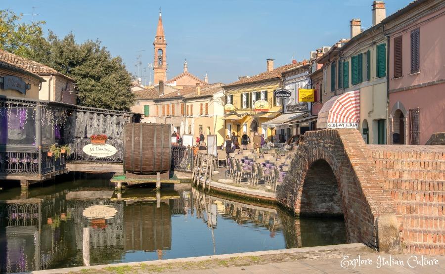 The pretty town of Comacchio -