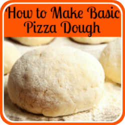 How to make basic pizza dough - link.