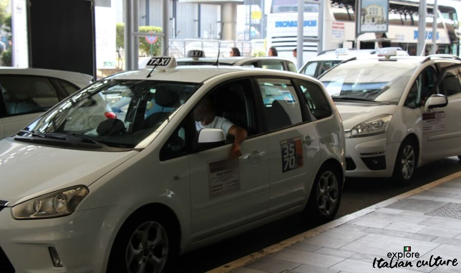 Rome taxi drivers at Fiumicino airport.