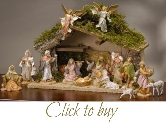 Large nativity scene.