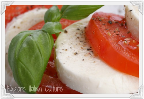 Caprese salad - a delicious healthy meal