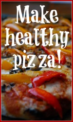Healthy pizza recipe link