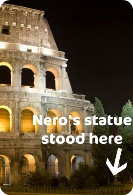 Colosseum Nero's statue
