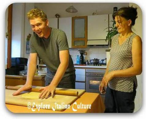 Our cousin learns how to make pasta the authentic Italian way!