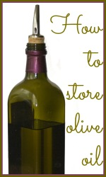 How to store olive oil link