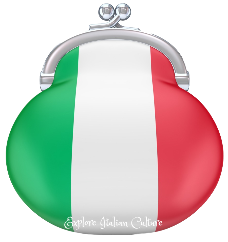 Italian flag coloured purse.