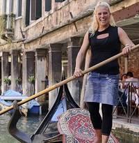 Italian gondola driver