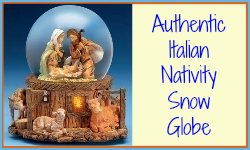 Italian nativity snow globes as Christmas gifts