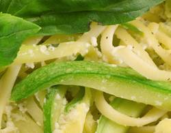 Spaghetti with courgettes recipe