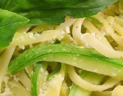 Spaghetti with courgettes recipe