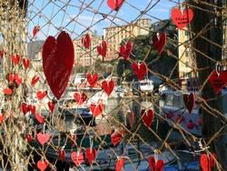 Liguria Italy Camogli hearts