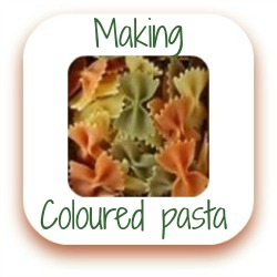 How to make coloured pasta link
