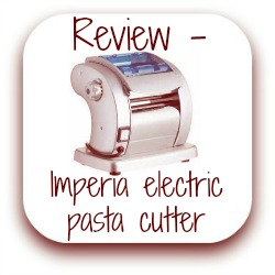 Imperia electric pasta cutter machine review - link