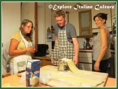 Cut the dough into strips